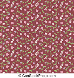Valentine seamless pattern with hea