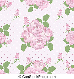 Seamless romantic pattern with rose