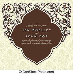 Vector Vintage Frame Easy to edit Perfect for invitations or...