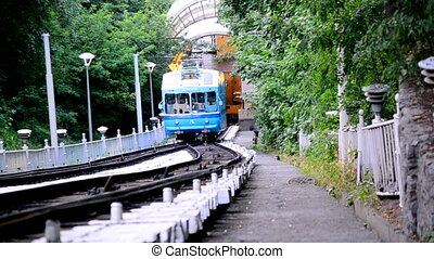Cable railway in Kyiv.