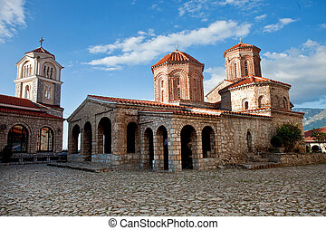 monastery St. Naum in Ohrid, - A view of an orthodox...