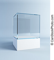 empty display case, 3d render