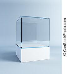 empty display case
