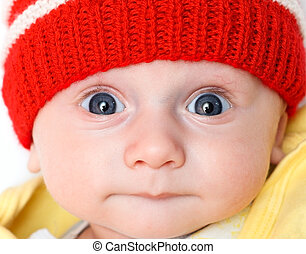 cute baby in winter hat