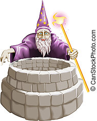 Wizard and the well