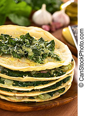 Savory Crepes with Chard - Fresh homemade savory crepes...