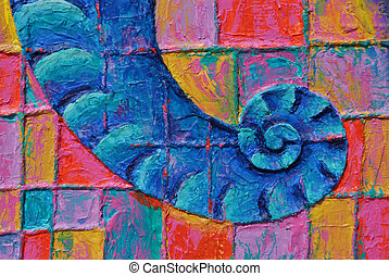 Proboscis - Texture, background of colorful painting