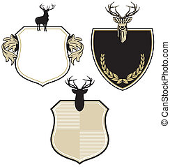 Coat of arms with three deer