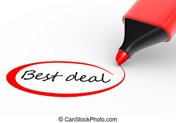 Best deal - Marker and best deal 3d render