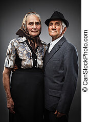 Elderly couple - Portrait of an elderly couple in studio