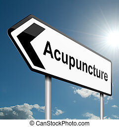Acupuncture concept. - Illustration depicting a road traffic...