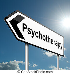 Psychotherapy concept - Illustration depicting a road...