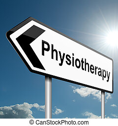Physiotherapy concept - Illustration depicting a road...