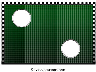 torwand - illustration of a goal wall, used for shooting...