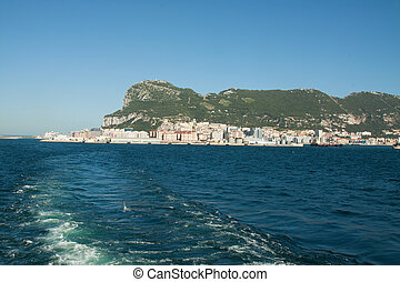 Goodbye Gibraltar - The rock of Gibraltar seen from the back...