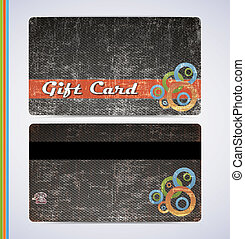 Blac Gift Card - retro grunge gift card for your business