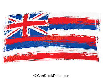 Grunge Hawaii flag - State of Hawaii flag created in grunge...