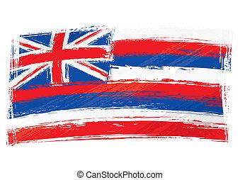 Grunge Hawaii flag
