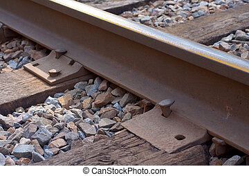 Close Up Railroad Track