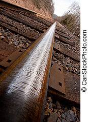 Railroad Track Close Up Angle