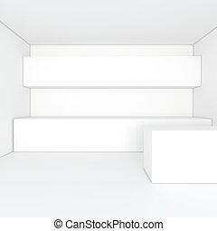 white kitchen room - empty interior design for kitchen room...