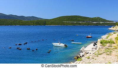 Beautiful colours of adriatic coast