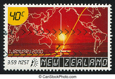 Millennium - NEW ZEALAND - CIRCA 2000: stamp printed by New...