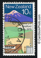 Stratford - NEW ZEALAND - CIRCA 1978: stamp printed by New...