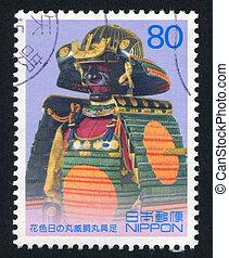 Leyasu Tokugawa - JAPAN - CIRCA 2003: stamp printed by Japan...