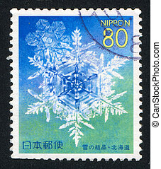 Snowflake - JAPAN - CIRCA 1999: stamp printed by Japan shows...