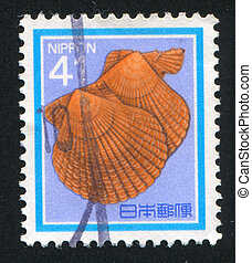 Bivalve - JAPAN - CIRCA 1984: stamp printed by Japan shows...