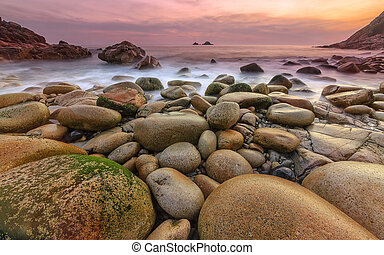 Porth Nanven - Cot Valley West Cornwall at sunset - Cot...