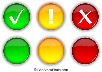 Web security buttons and icons - Glossy web security icons...