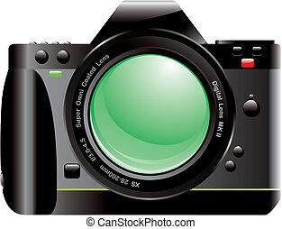 SLR Digital Camera - 3D Rendered SLR Digital Camera isolated...