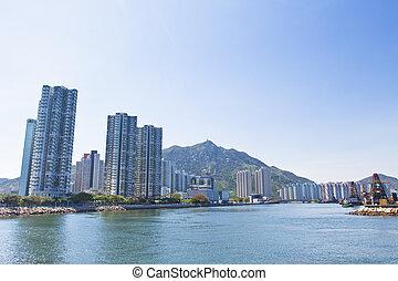 Hong Kong apartments along the coast