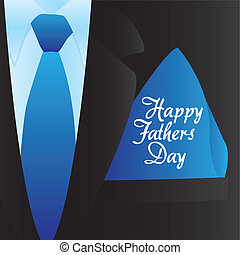 Happy Father's Day, holiday card with formal suit and tie