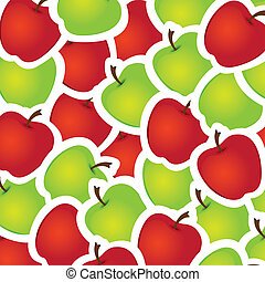 Apples - Green and red apples background