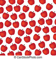 apple  pattern on white background, vector illustration