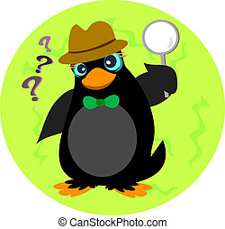 Inquisitive Penguin Detective - This Penguin loves to solve...