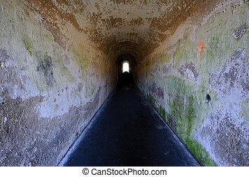 Scary old tunnel. - Scary old tunnel and pathway.