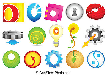 Different Icon with alphabet O