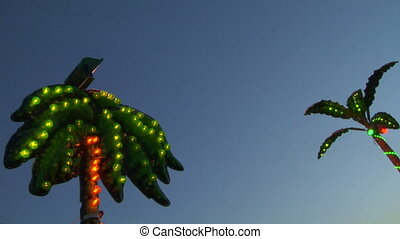 light amusement park 01 - Colored lights in amusement park