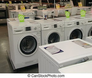 wash machine sell shop - washing machine sell in supermarket...