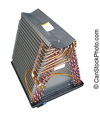 Air Conditioner Evaporator Coil - Coil or evaporator part of...