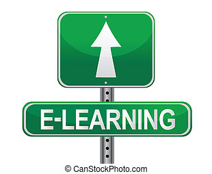 E-learning illustrated sign