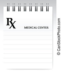 Blank prescription illustration design over white