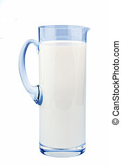 milk jug. healthy diet - a jug of milk for a healthy diet...