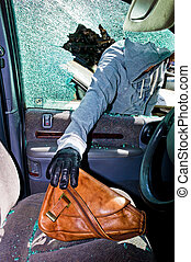 a thief stole a purse from car - a thief stole a purse from...