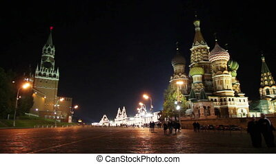 Kremlin and temple on Red square in Moscow