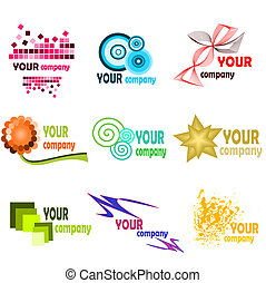 Logo elements 2 - Illustration of different kind of bussines...